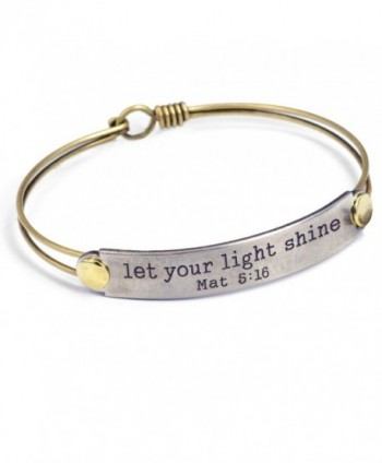 Engraved Bible Verse Inspirational Faith Religious Bar Bangle Bracelets- 12 Messages Available - C512NGEPSML