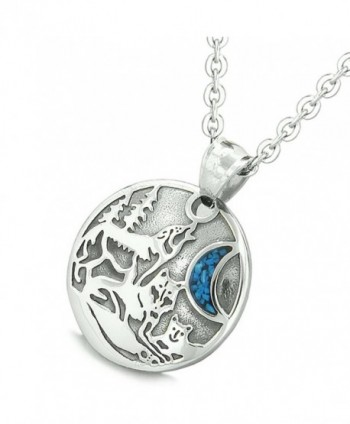 Howling Simulated Turquoise Pendant Necklace in Women's Pendants