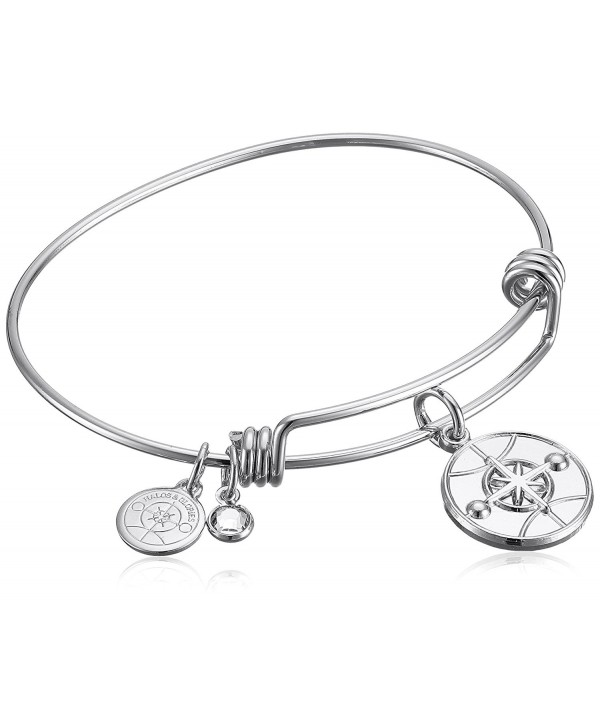 "Halos & Glories- ""Logo"" Bangle Bracelet - Shiny Silver - C5185OD7XSH"