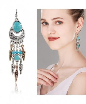 Ginasy Bohemia Earrings Teardrop Turquoise