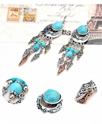 Ginasy Bohemia Earrings Teardrop Turquoise in Women's Drop & Dangle Earrings