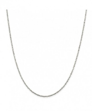 Sterling Silver 1.8mm D-Cut Fancy Chain Necklace - Spring Ring - Length Options: 16 18 20 24 - C8112MO9NYX