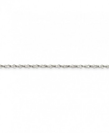 Sterling Silver Polished Sparkle Cut Necklace in Women's Chain Necklaces