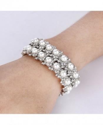 EVER FAITH Simulated Bracelet Silver Tone