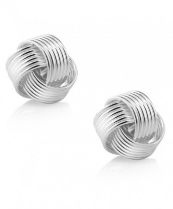 Sterling Silver Woven Twisted Earrings