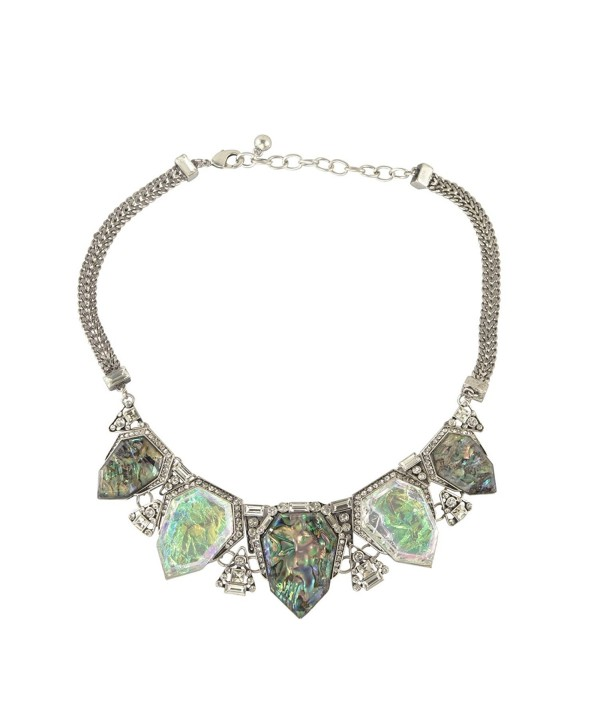 Fit&wit Crystal Statement Necklace Fashion Chunky Jewelry Choker Collar for Women Girls - C012BVK31FP