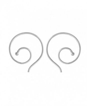 Boma Sterling Silver Spiral Pull Through Hoop Earrings - CB17YT54E7L