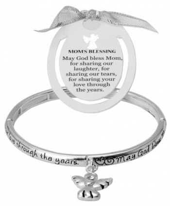 Mom's Blessing Angel Charm Bracelet with Bookmark by Jewelry Nexus - C311CY3UXKZ
