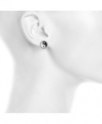 Lux Accessories Crystal Peace Earrings