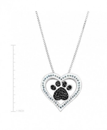 Crystaluxe Swarovski Crystals Sterling Silver Plated in Women's Pendants