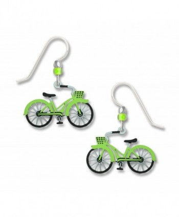 Sienna Sky Small Lime Green Bicycle Earrings 1923 - CT12I58WSPF