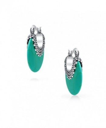 Bling Jewelry Synthetic Turquoise Earrings