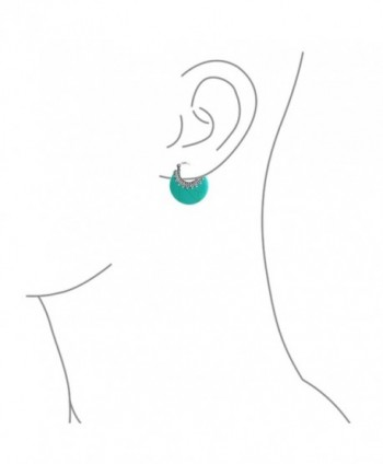 Bling Jewelry Synthetic Turquoise Earrings in Women's Hoop Earrings