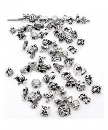 Ten assorted Animal Charm Beads for Snake Chain Charm Bracelet - CB119PM2AXP