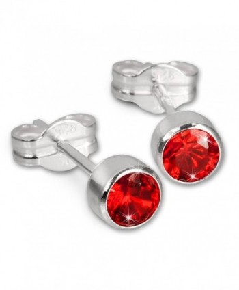 SilberDream earring Zirconia red- 925 Sterling Silver SDO503R - CS116VAF275