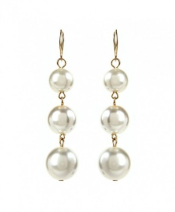Pearl Ball Drop Earrings - CY182THYSQH