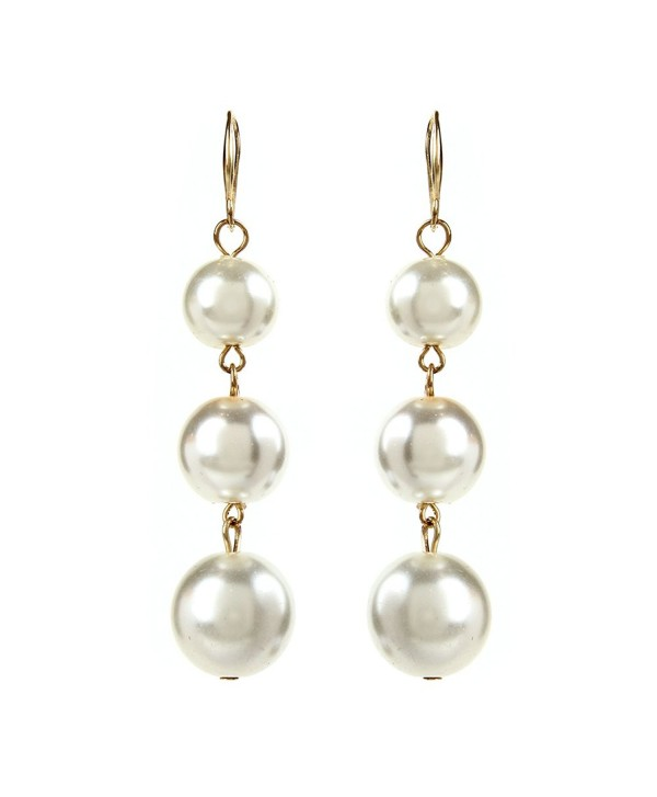 Pearl Ball Drop Earrings - CY182THYSQH