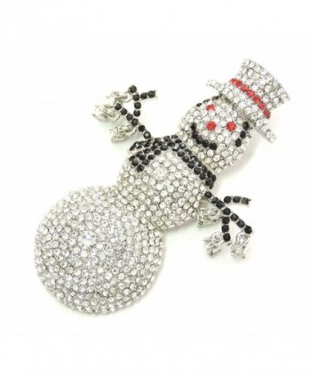 Faship Snowman Brooch Gorgeous Crystal in Women's Brooches & Pins
