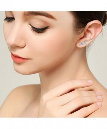 BriLove Sterling Wedding Crawler Earrings