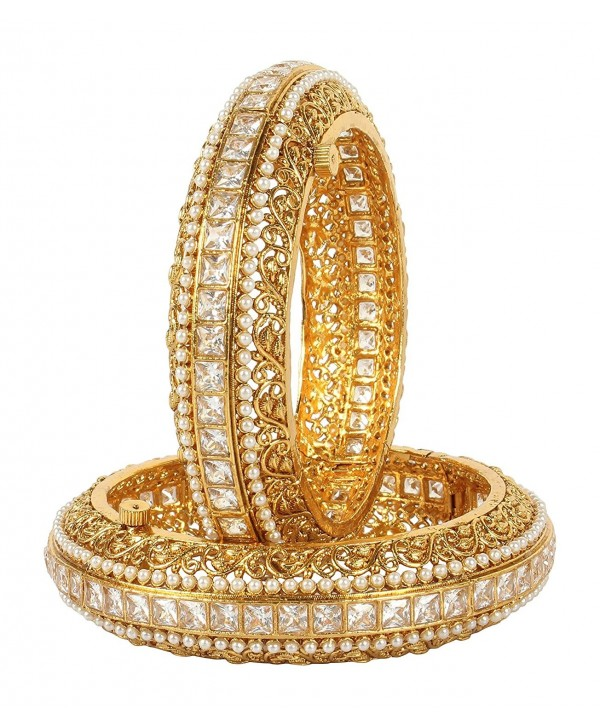 MUCHMORE Awesome Indian Polki Bangles Traditional Partywear Jewelry - CQ186QU648X