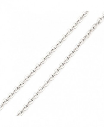SHINYSO 24''- 2.0mm stainless steel Silver Women's Necklace O Chain - 24 Inch - CN11FZ764RX