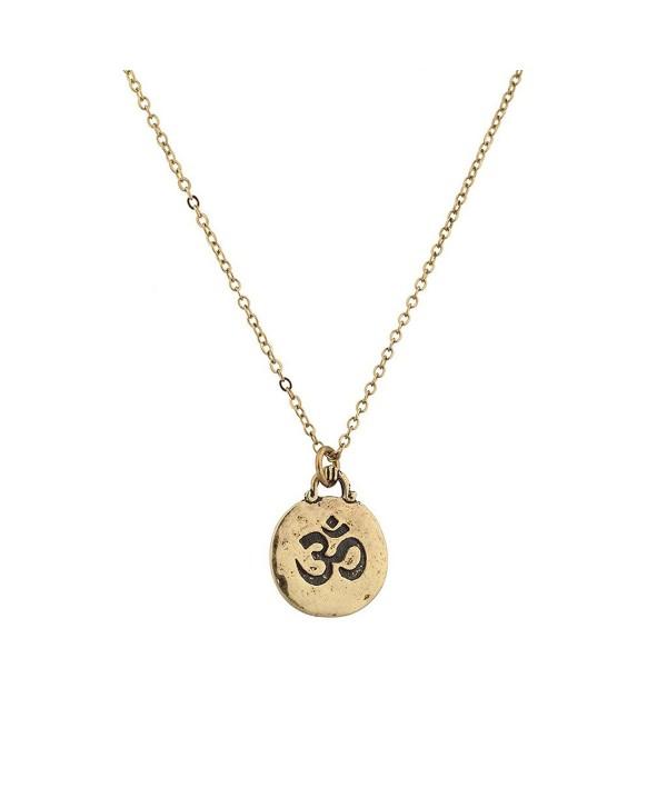 Lux Accessories Hinduism symbol Aum Om Pratima Atman Brahman Soul Self Within Pendant Necklace - CB129GCM03T