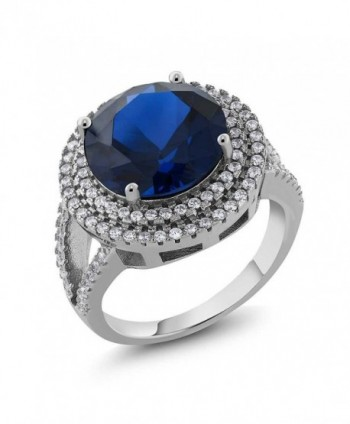 Sterling Simulated Sapphire Gemstone Available