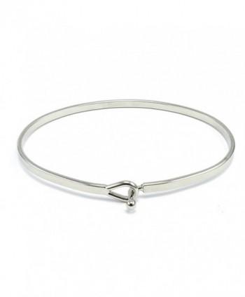 Continually Inspirational Bangle Bracelet Rhodium