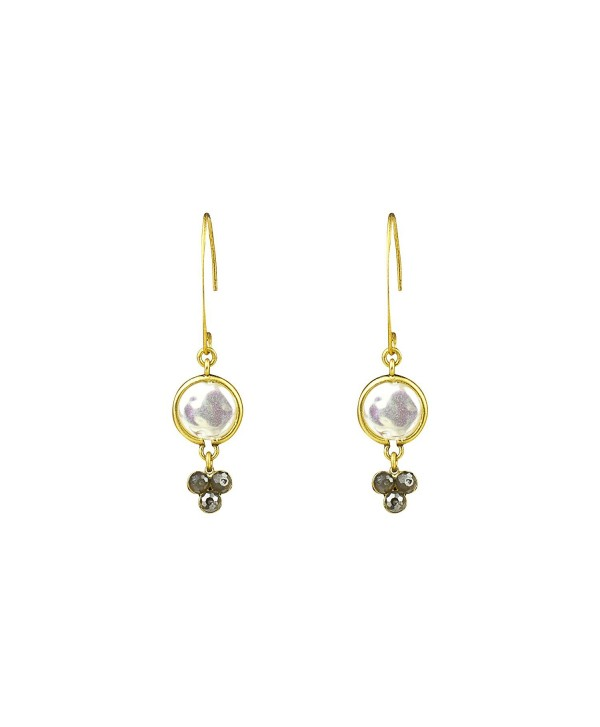 Mother of Pearl Hammer Drop Earring- Gold - CY185YII08Y