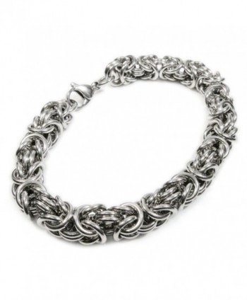 Stainless Steel Round Byzantine Chain Bracelet 8mm - C711HB846JR