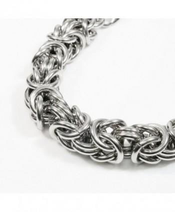 Stainless Steel Round Byzantine Bracelet