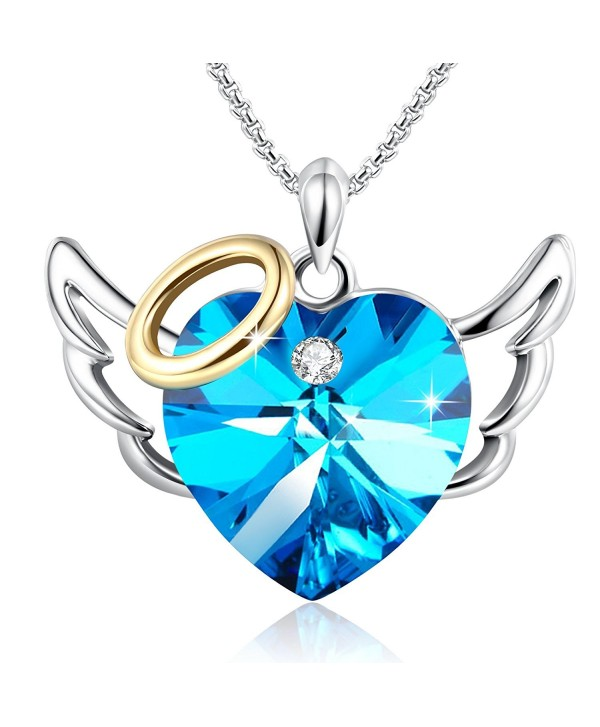 Birthday Necklace Anniversary Daughter Swarovski - blue-angel - CR185RHZGWL
