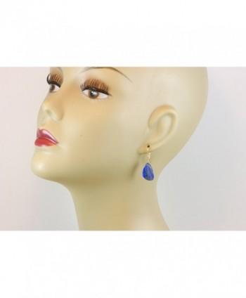 Filled Lazuli Earrings Smooth Teardrop