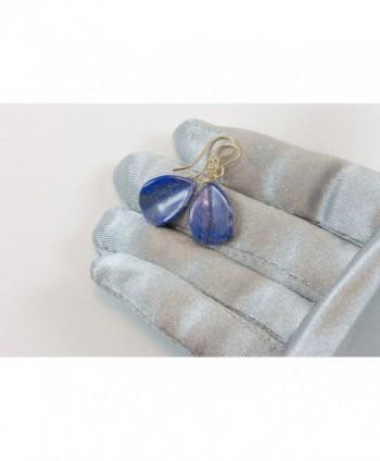 Filled Lazuli Earrings Smooth Teardrop in Women's Drop & Dangle Earrings