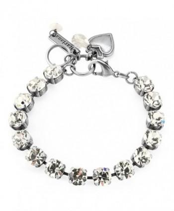 Mariana Clear Crystal Tennis Style Swarovski Crystal Bracelet 001001 - CO125MCW2AH
