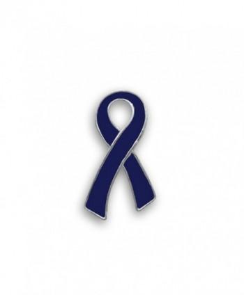 Huntington's Disease Dark Blue Ribbon Pin- Large Flat (Retail) - CR187KG0447
