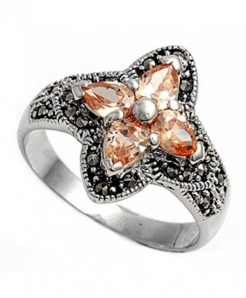 CHOOSE YOUR COLOR Sterling Silver Ring - White Simulated Cubic Zirconia - C1187Z2KE8N