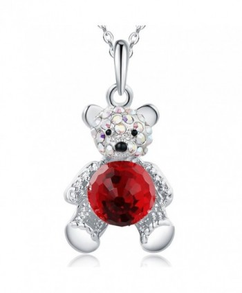 SIVERY Fashion Jewelry Necklace Swarovski - Red - CK17YYELWHA
