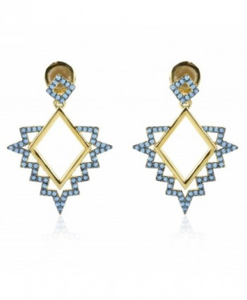 nOir Jewelry Teton Earrings - Blue / Gold Plated - CL12J6J1ONT