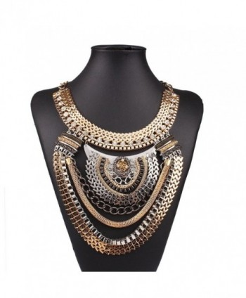 Ethnic Colorful Multiple Statement Necklace