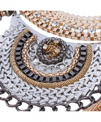 Ethnic Colorful Multiple Statement Necklace in Women's Chain Necklaces