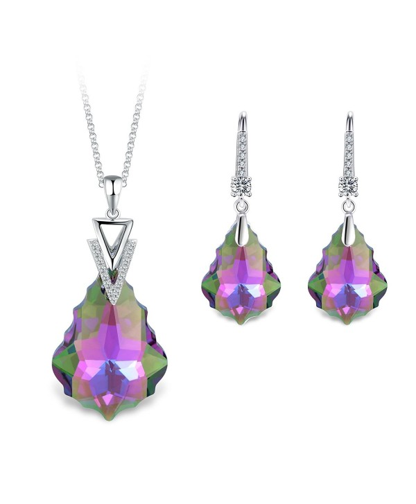 T400 Jewelers Swarovski Elements Waterdrop - Purple - C21802EIGWI