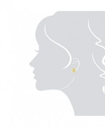 Yellow Plated Stering Plumeria Earrings in Women's Stud Earrings