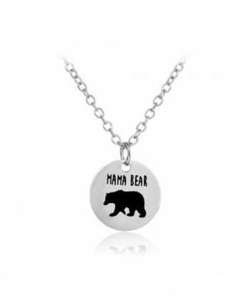 Meiligo Fashion Necklace Matching Engraved - mama bear - circular - CT17AZ7N5LW