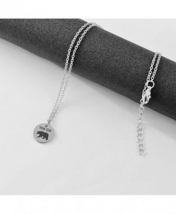 Meiligo Fashion Necklace Matching Engraved in Women's Pendants