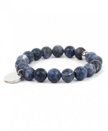 Shinus Bracelet Handmade Meditation Gemstone - Matte Blue-Vein - CC1822C8T0N