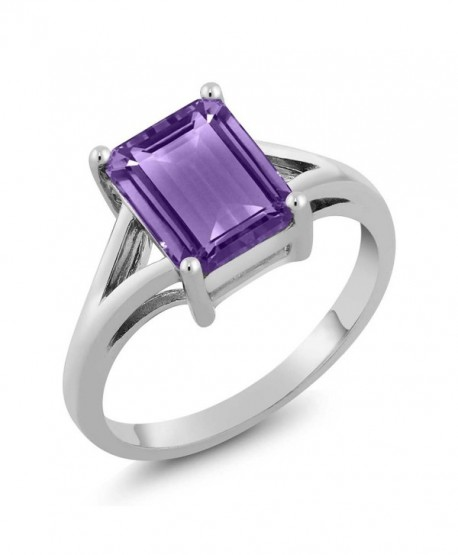 Sterling Amethyst Birthstone Solitaire Available - CJ116W14SL5