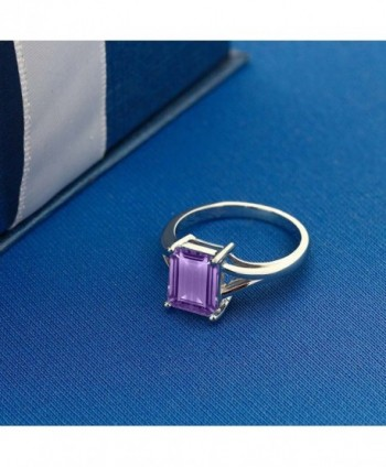 Sterling Amethyst Birthstone Solitaire Available in Women's Statement Rings