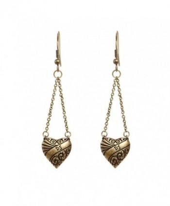 DaisyJewel Bronze Crystal Dangle Earrings