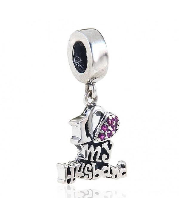 Husband Dangle Sterling Christmas Bracelets - I Love My Husband - CV182XQK06A